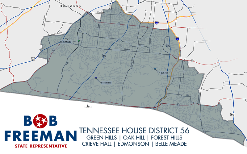 Tennessee House District 56 Map